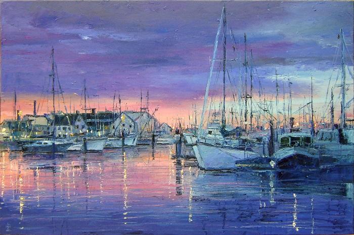 Di Pelabuhan. Lukisan: Dok: drawingacademy.com