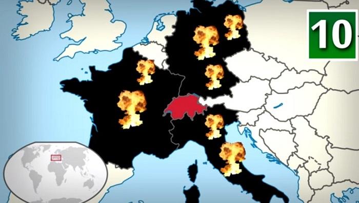 10 Negara paling aman dalam perang duni III (Ilustrasi). Foto: Crop Youtube/ NNC art