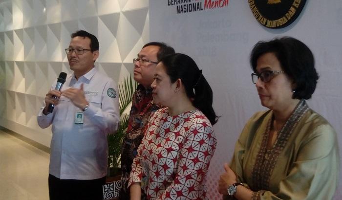 Direktur Utama BPJS Kesehatan Fachmi Idris (Paling Kanan). Foto Richard Andika/ NusantaraNews