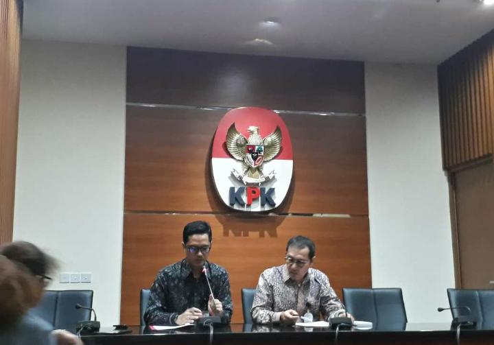 KPK kembali tetapkan Setnov sebagai tersangka e-KTP. Foto: Restu Fadilah/NusantaraNews