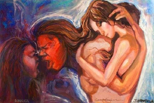 Cinta dan Luka (Ilustrasi). Foto Lukisan: Dok. ok.ru
