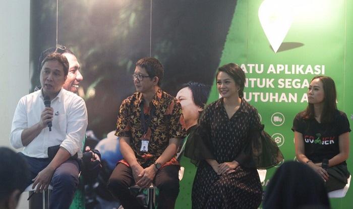 GO-JEK kenalkan Video musik layanan masyarakat Indonesia Raya 3 Stanza dalam acara media gathering yang dihadiri oleh Dirjen Kebudayaan Kemendikbud Hilmar Farid dan Wakil Kepala Badan Ekonomi Kreatif Ricky Pesik. Foto Istimewa