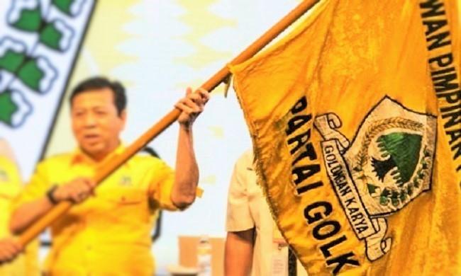 Golkar ketika dipegang Setya Novanto. Foto Ilustrasi: Istimewa/ NusantaraNews