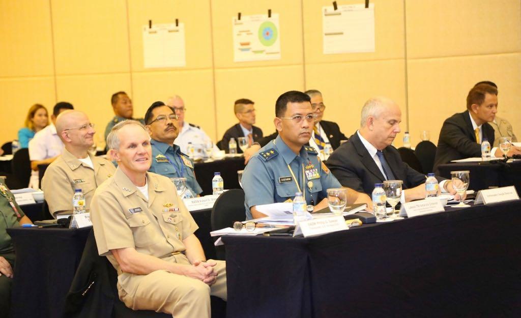 Laksda TNI Dr. Amarulla Octavian Dekan FMP Univ. Pertahanan dalam seminar internasional Indonesia-Amerika ini bertajuk 2nd Maritime Defense in Littoral Environment. (Foto: Istimewa)