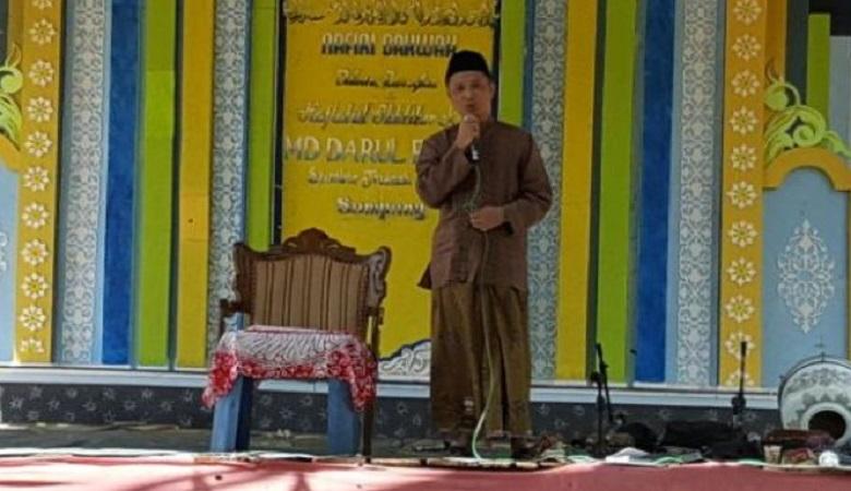 Haji Hisan yakin dirinya bakal memang di Pemilihan Bupati Sampang 2018 mendatang. (Foto: Tri Wahyudi/NusantaraNews