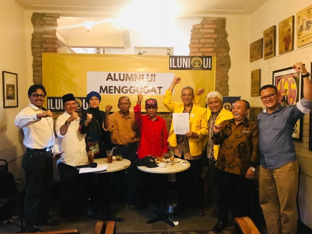 ILUNI mengajukan gugatan hukum ke PTUN atas dibungkamnya kebebasan berpendapat dan berserikat oleh negara. Foto: Istimewa