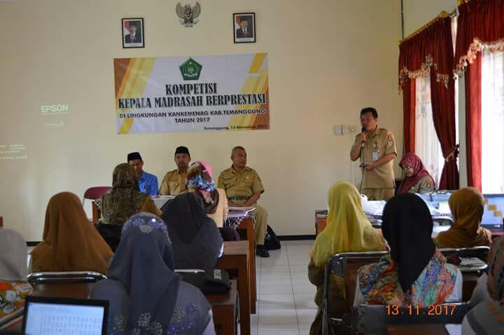 Mapenda Kemenag Kabupaten Temanggung melakukan lomba kompetisi guru RA dan kepala madrasah. Foto: Istimewa