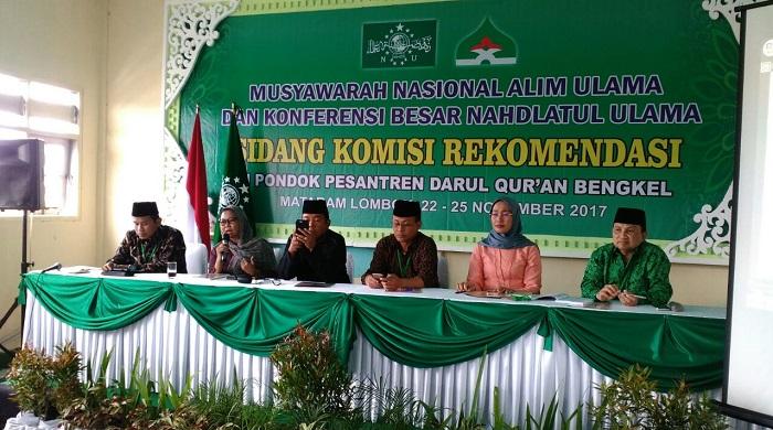 Komisi Rekomendasi Munas Alim Ulama dan Konbes NU 2017 di Ponpes Darul Qur'an Bengkel, Labuapi, Lombok Barat, NTB, Jumat (24/11/2017). Foto: Dok. Munas Alim Ulama