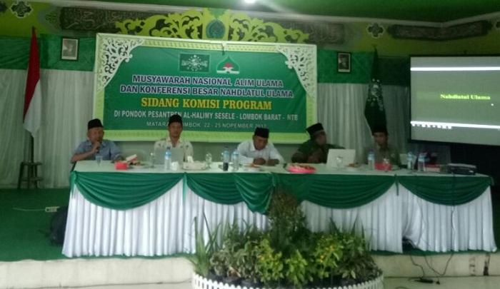 Rapat Komisi Program Munas dan Konbes NU, di Pesantren Alhalimy, Lombok Barat, Jumat (24/11). Foto: Dok. Munas Alim Ulama 2017