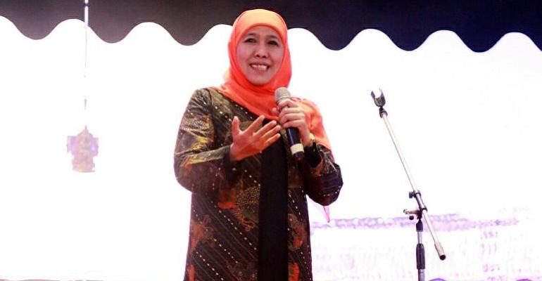 Menteri Sosial, Khofifah Indar Parawansa setuju adanya Hari Wayang Nasional. Foto: Tri Wahyudi/NusantaraNews