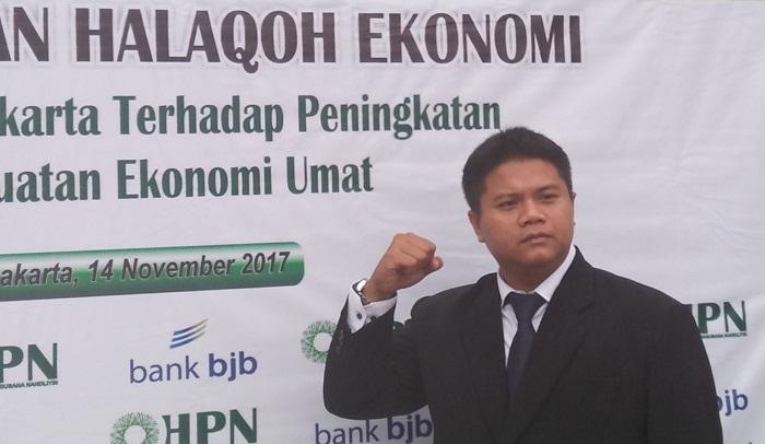 Tatang Taryana Pengurus Himpunan Pengusaha(HPN) Nahdiyin Kabupaten Purwakarta yang siap berkontribusi bidang Ekonomi Kreatif bersama pemerintah dan sawasta. Foto Fuljo/ NusantaraNews