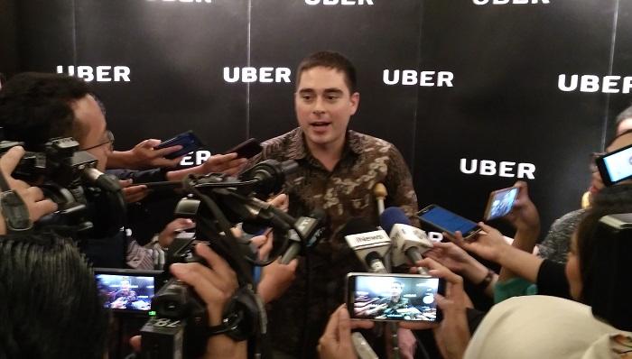 Head of Public Policy and Government Affairs, Indonesia, Uber, John Colombo usai acara peluncuran kampanye #UnlockJakarta yang diadakan hari Rabu, 1 November 2017. Foto Ach. Sulaiman/ NusantaraNews