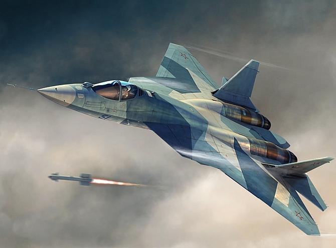 Jet tempur siluman Sukhoi T-50 milik Rusia (Foto via rediff)