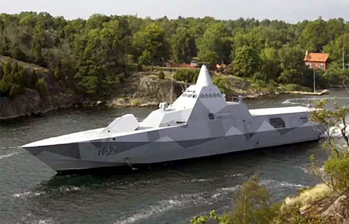 Korvet Stealt Kelas Visby Swedia/Foto: Gizmodo