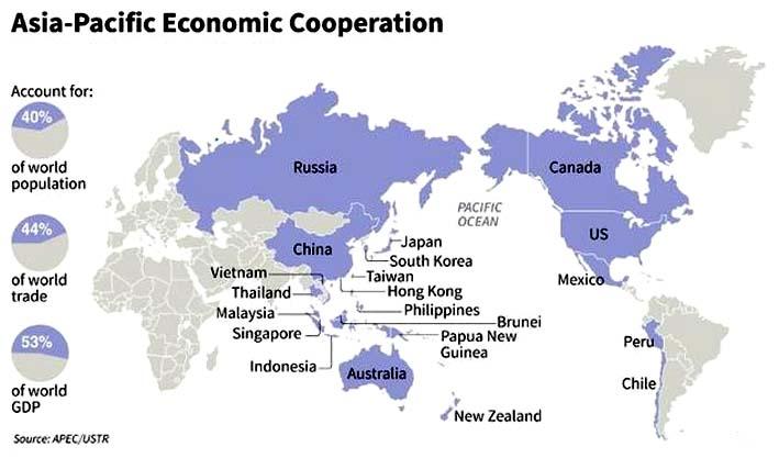 Kerjasama Ekonomi Asia-Pasifik/Image via Daily Mail