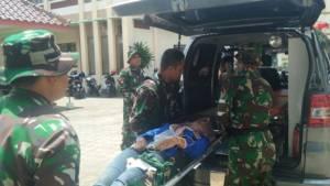 Simulasi Penanggulangan Bencana Alam gempa dan tsunami oleh Kodim 0801/Pacitan dan BPBD. Foto TImbul/ NusantaraNews