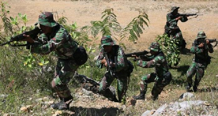 Latihan Pemantapan Raider Pasukan Pemukul Brigade Infantri 19/Khatulistiwa. Foto: Dok. Antara