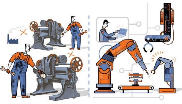 Revolusi Industri Keempat. Ilustrasi: Istimewa (Indra S)