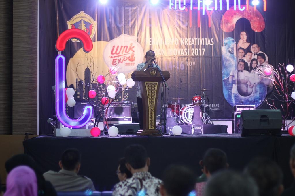 Sambutan Sekda Kudus Noor Yasin MM Suparnyo pada pembukaan pekan ekspo dan kreativitas UMK. Foto: Rosidi/NusantaraNews