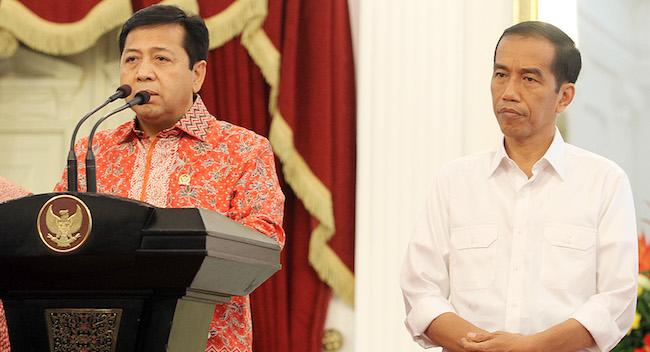 Setya Novanto bersama Jokowi (Foto via terbitsport)