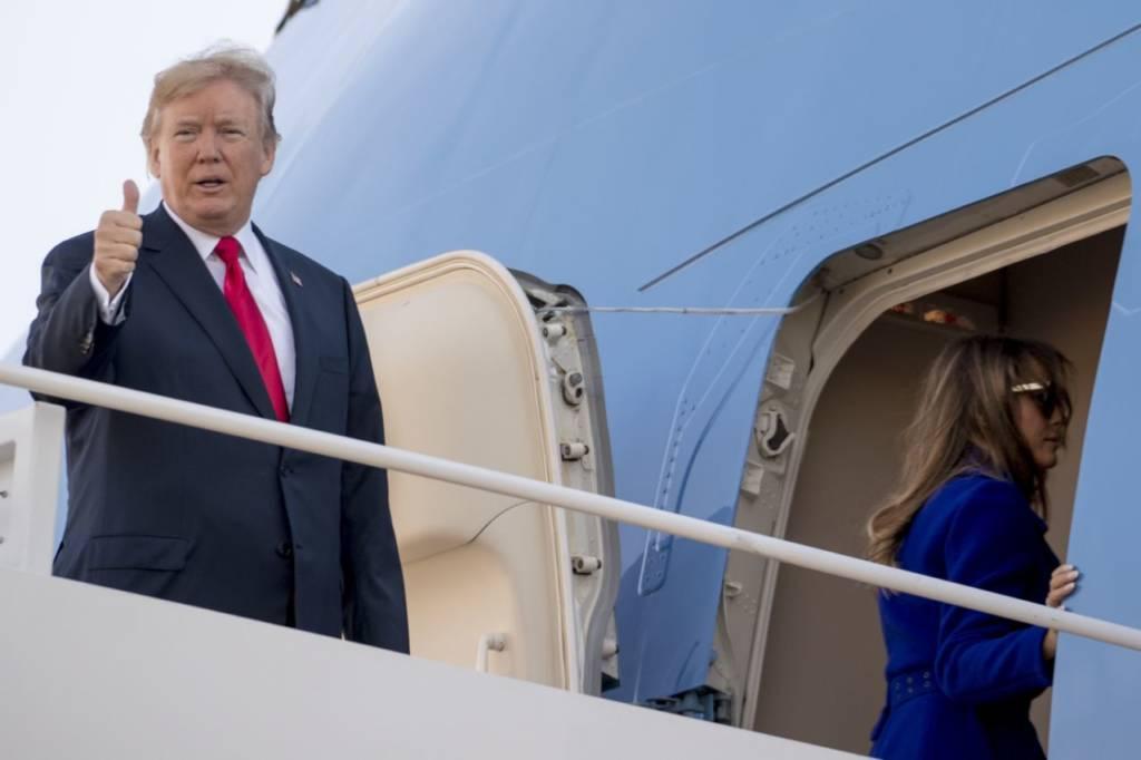 Presiden Amerika Serikat, Donald Trump bertolak ke Asia. (Foto: AFP)