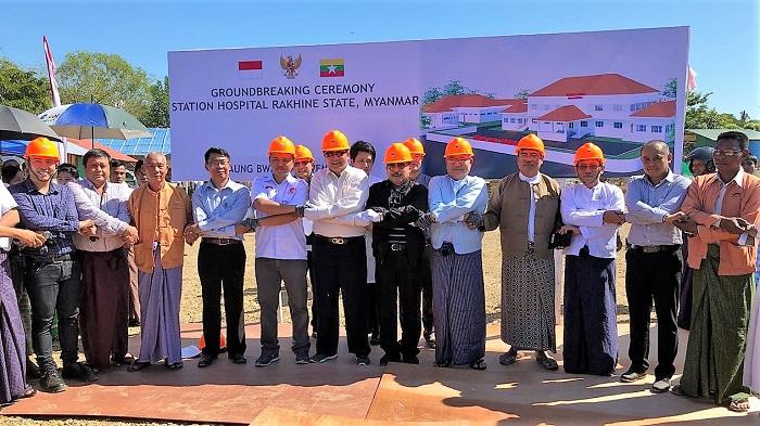 Groundbreaking Rumah Sakit Indonesia di Rakhine State. Foto: Dok. Humas Kemlu RI