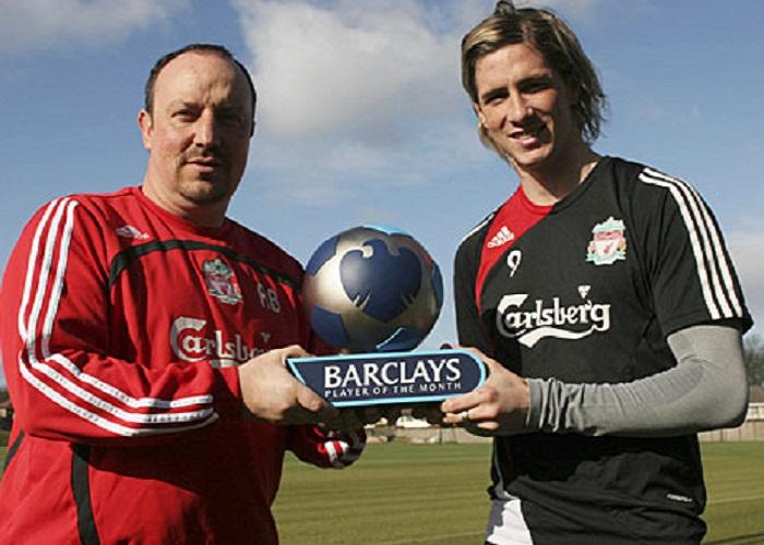 Rafael Benitez dan Fernando Torres kala masih bersama di Liverpool lebih dari satu dekade yang lalu. Foto: Action Images