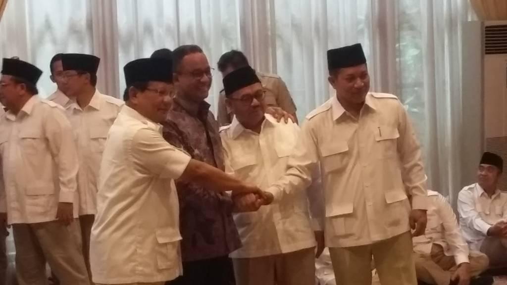 Ketua Umum Partai Gerindra Prabowo Subianto usung Sudirman Said sebagai calon gubernur Jawa Tengah (Jateng). Foto: Ucok Al Ayubbi/NusantaraNews