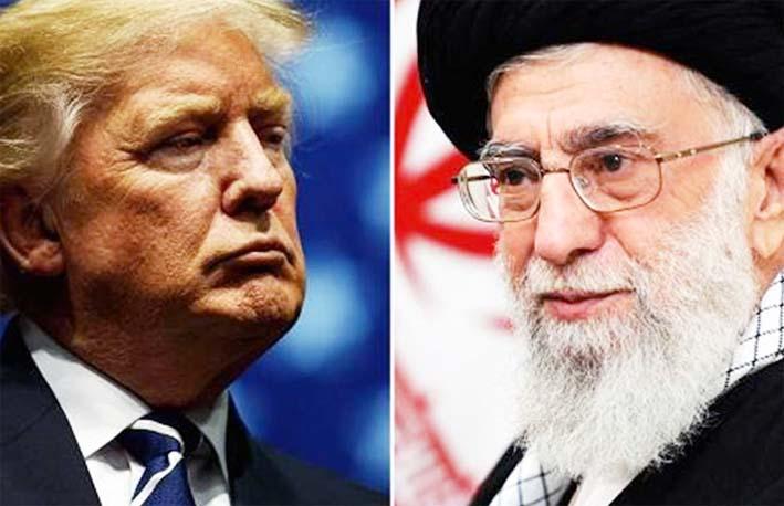 Presiden AS Donald Trump dan Pemimpin Spiritual Tertinggi Iran Ayatullah Ali Khameini/Foto thebaghdadpost.com