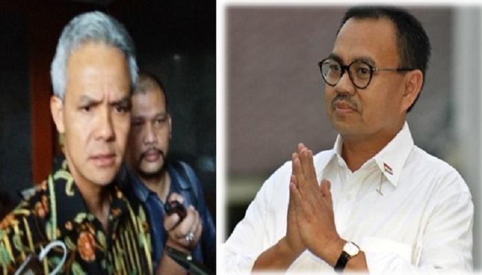 Ganjar Pranowo dan Sudirman Said bakal bertarung memperebutkan kursi Jateng Satu pada Pilgub Jawa Tengah 2018 mendatang. Foto: Ilustrasi/NusantaraNews