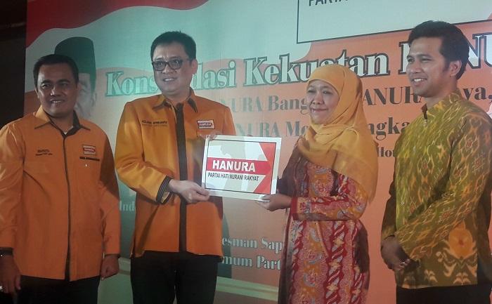 Hanura Dukung Khofifah dan Emil (Foto Tri Wahyudi)