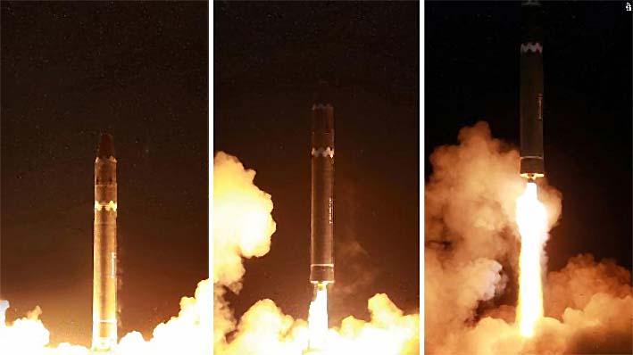 Peluncuran Rudal Balistik Nuklir Hwasong 15/Foto cnn