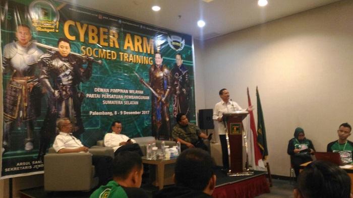 Orde Teknologi, PPP Sumsel Aktif Adakan Pelatihan Cyber Army Socmed. Foto: Dok. Humas PPP Sumsel