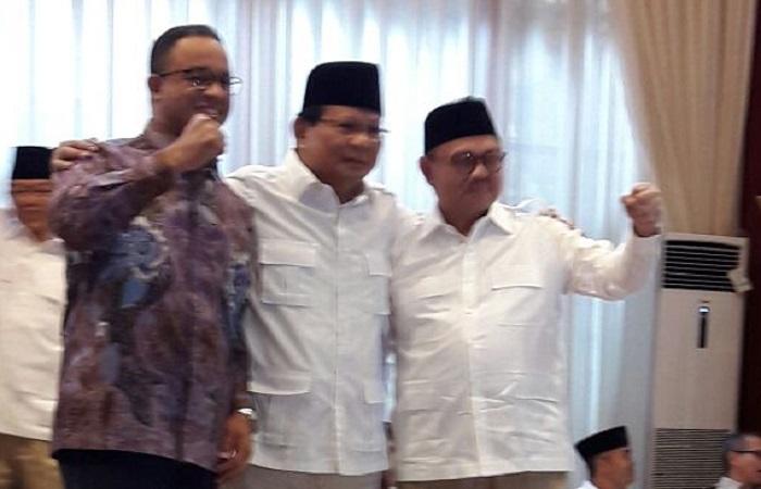 Gubernur DKI Jakarta Anies Baswedan tutur hadir di pengumuman Sudirman Said sebagai calon gubernur Jawa Tengah oleh Prabowo Subianto (Gerindra). Foto: Achmad Sulaiman/NusantaraNews