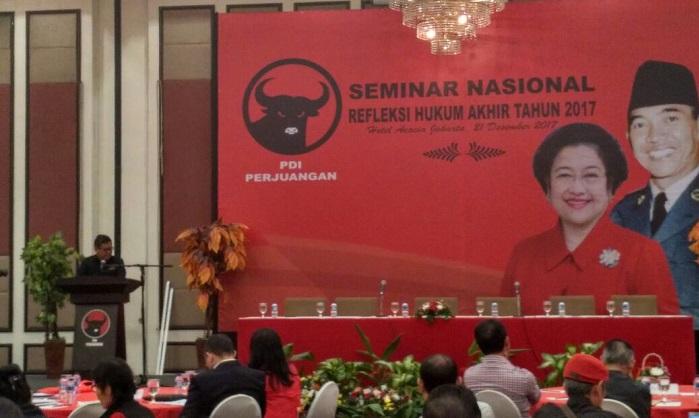 Sekjend DPP PDI Perjuangan, Hasto Kristiyanto. Foto Ucok Al Ayubbi/ NusantaraNews