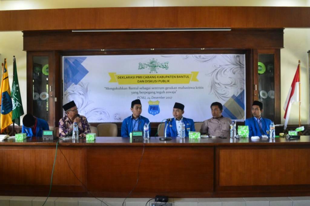 Deklarasi PC PMII Bantul, Daerah Istimewa Yogyakarta (DIY). Foto: Robiatul Adawiyah