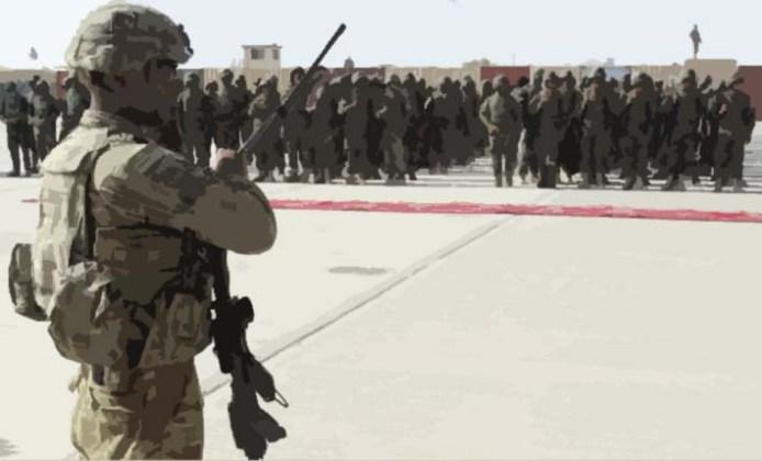 Ilustrasi Penggelaran Pasukan Amerika Serikat yang akan kembali diterjunkan ke Afghanistan. Foto: Abdul Khaliq/Via AP
