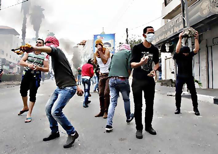 Ilustrasi Gerakan Intifada/Foto AFP