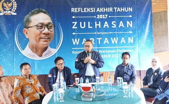 Ketua Umum PAN Zulkifli Hasan (Foto Syaefuddin A)