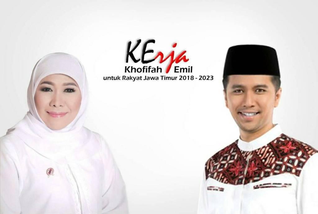 Pasangan calon gubernur-wakil gubernur Jawa Timur, Khofifah Indar Parawansa-Emil Dardak. Foto: Istimewa