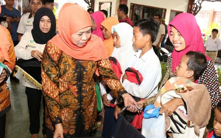 Mensos Khofifah Indar Parawansa (Foto: Tri Wahyudi/Nusantaranews)