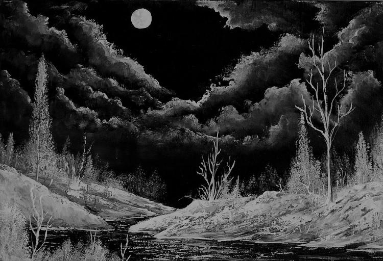 Midnight painting midnight shine painting alex izatt images (ilustrasi/krogen)