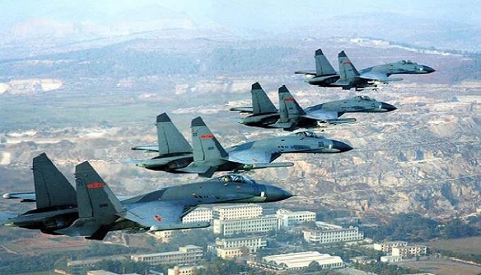 Angkatan udara China menggelar latihan di Laut Jepang dan Semenanjung Korea. Foto: PLAAF