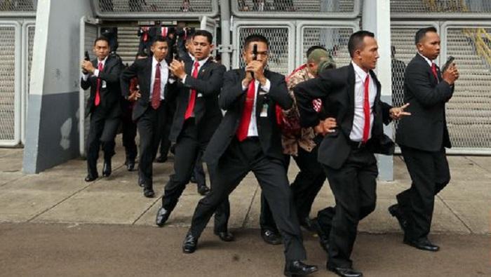 Paspampres saat tugas pengawalan. Foto: Dok. CNN Indonesia