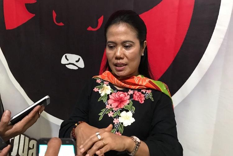Sekretaris PDIP Jatim, Sri Untari (Foto Tri Wahyudi)