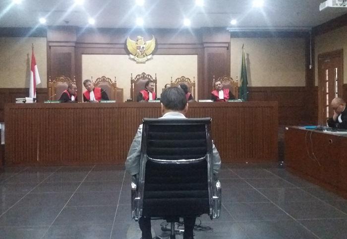 Sidang terdakwa Pengusaha e-KTP Andi Agustinus alias Andi Narogong (Foto Restu Fadilah/Nusantaranews.co)