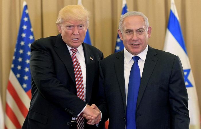 Presiden Amerika Serikat Donald Trump dan Perdana Menteri Israel Benjamin Netanyahu. Foto: Getty Images)