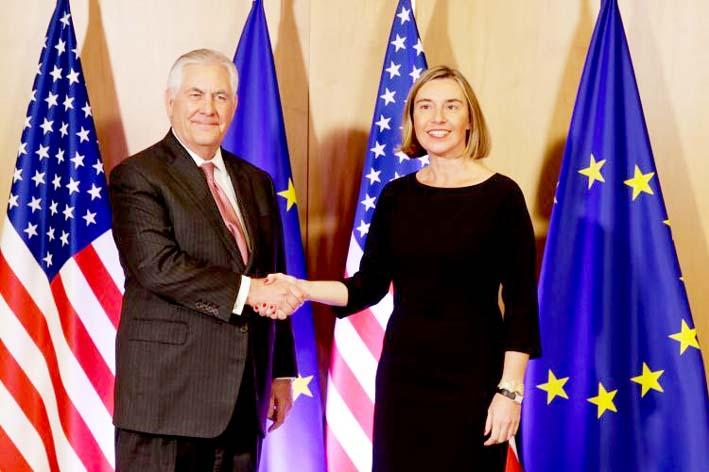 Federica Mogherini and Rex Tillerson/Foto: eeas.europa.eu
