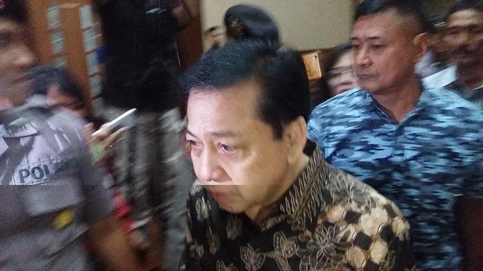 Setya Novanto saat mengajukan Eksepsi. Foto Restu Fadilah/ NusantaraNews