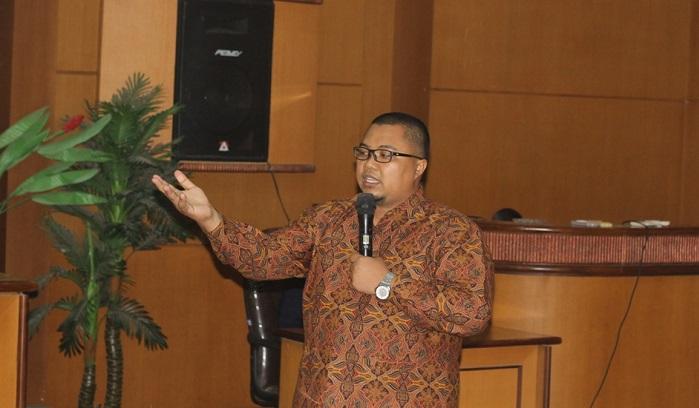 osen Jurusan Matematika di Universitas Negeri Semarang (Unnes), Ardhi Prabowo paparkan beragam strategi pembelajaran di UMK. Foto Rosidi/Humas UKM/ NusantaraNews